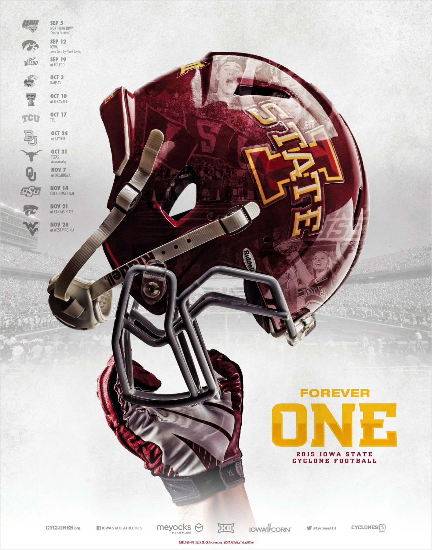college football poster iowa state design